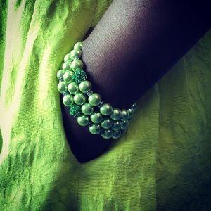 Jewelry - Green Beaded Bracelet - Set of 3